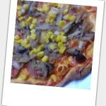 チーズなしピザ